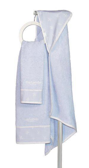 Βρεφική Πετσέτα Guy Laroche Bebe Heaven L Blue Σετ 2τμχ (40χ60-70χ130)