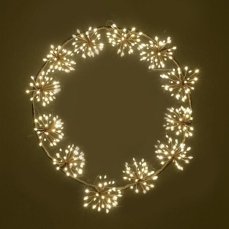 INART -ΣΤΕΦΑΝΙ ΜΕ ΛΑΜΠΑΚΙΑ 240 MICRO LED ΚΙΤΡΙΝΟ ΦΩΣ 12V/9W Δ40 2-70-193-0008