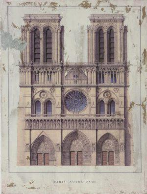 INART -ΠΙΝΑΚΑΣ ΞΥΛΙΝΟΣ PRINTED NOTRE DAME 60X80 3-90-271-0013