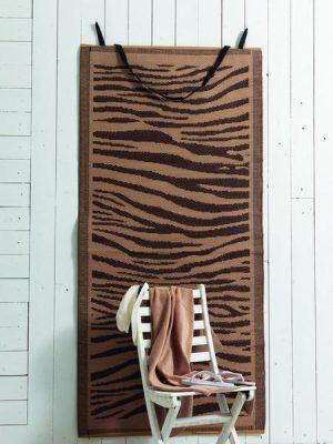 Σετ Ψάθα+Πετσέτα Θαλάσσης  Palamaiki Beach Collection  κωδ.ZEBRA