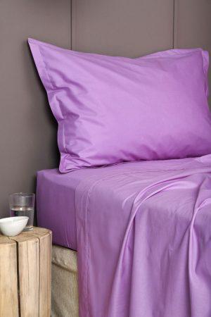 Σεντονι Χωρίς Λάστιχο Colour Rainbow Υπερδιπλο 240x260 COLOUR RAINBOW Violet Palamaiki