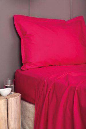 Σεντονι Χωρίς Λάστιχο Colour Rainbow Υπερδιπλο 240x260 COLOUR RAINBOW Red Palamaiki