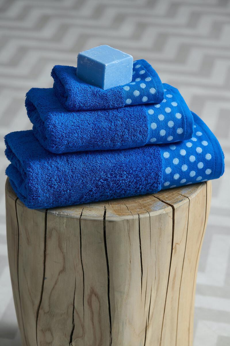 Σετ 3 Τμχ  Πετσέτες Towels Collection  30x50,50x100,70x140 DOTS Blue Palamaiki