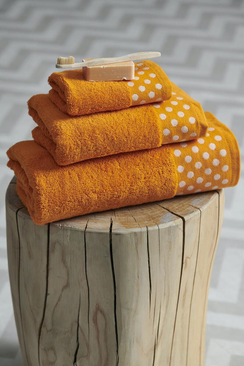 Σετ 3 Τμχ  Πετσέτες Towels Collection  30x50,50x100,70x140 DOTS Orange Palamaiki