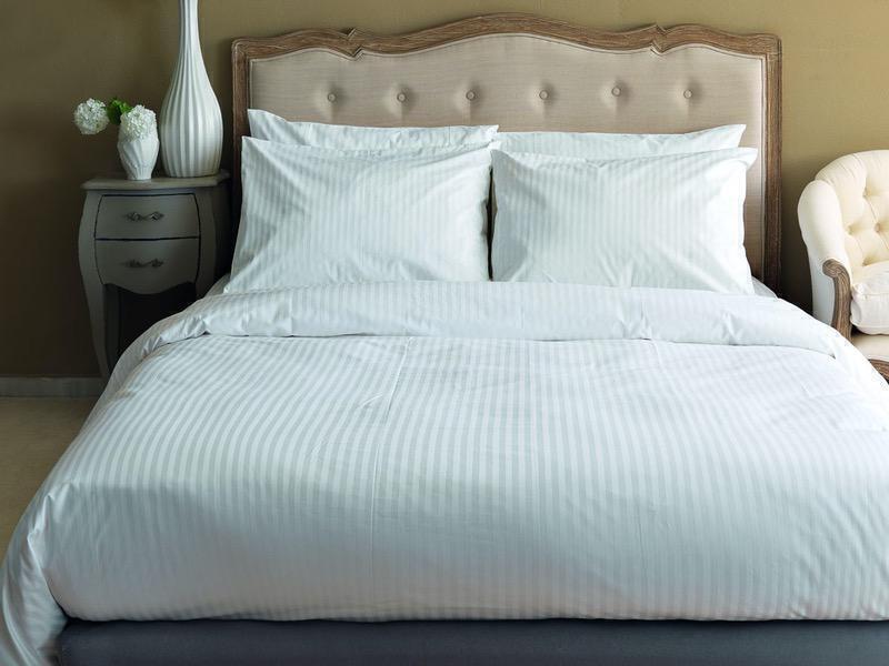 Τμχ Σεντόνι Ημίδιπλο Palamaiki White Comfort 160x270 κωδ.WHITE STRIPES