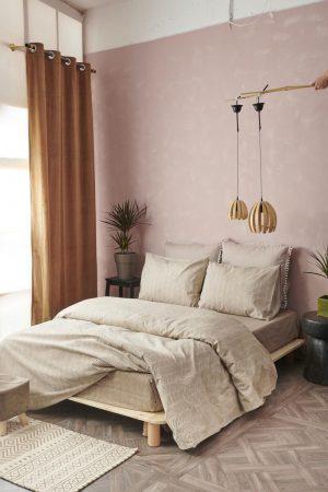 Σετ 3 Τμχ  Σεντόνια Με Λάστιχο Flannel Beauty Ημίδιπλα 110x200+30 FB0211  Palamaiki