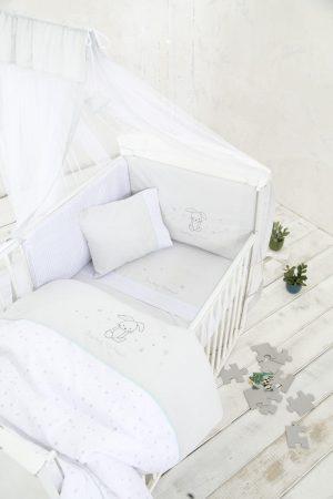 Nima Σετ Κούνιας (Σετ Σεντόνια  Κουβερλί - Πάντα Baby Bunny 120x170 20983
