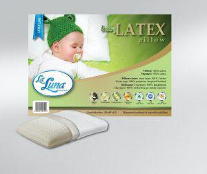 La Luna Βρεφικό Μαξιλάρι The baby Latex Pillow Baby Line 30x40x6,5