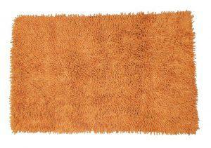 Πατάκι Μπάνιου ΚΟΜΒΟΣ 100% Cotton ΦΛΟΚΩΤΟ Orange 60x100