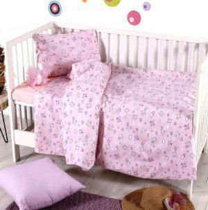 Σετ Παπλωματοθηκη  Bebe  110x150 Camy Pink Sb home
