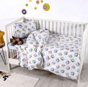 Σετ Σεντονια Bebe Κούνιας 120x160 Elvin Blue Sb home