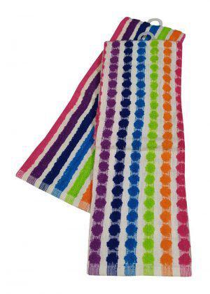 Σετ Ποτηρόπανα 2τεμ.ΚΟΜΒΟΣ πετσετέ LUXURY 100% Cotton 45x65 Rainbow