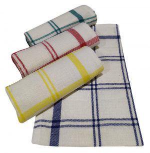Σετ Ποτηρόπανα 4τεμ.ΚΟΜΒΟΣ Πικέ 100% Cotton 45x65 Squares Διάφορα Χρώματα