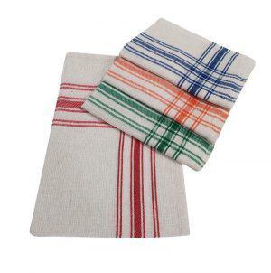 Σετ Ποτηρόπανα 4τεμ.ΚΟΜΒΟΣ Πικέ 100% Cotton 45x65 Lines Διάφορα Χρώματα