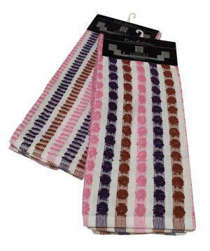 Σετ Ποτηρόπανα 2τεμ.ΚΟΜΒΟΣ πετσετέ LUXURY 100% Cotton 45x65 Pink