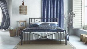 Chic Strom Μεταλλικό Κρεβάτι Ορίων Μονό 90x200