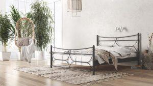 Chic Strom Μεταλλικό Κρεβάτι Πιέρ Μονό 90x200