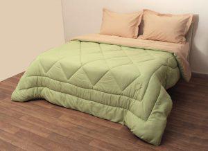 Viopros Πάπλωμα Δίχρωμο Υπέρδιπλο 220x240 Microfiber Πράσινο/Μπεζ