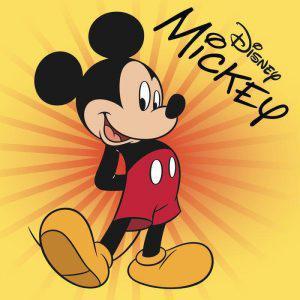 Viopros Πετσέτα Βελουτέ 30x30 Mickey 5 Πορτοκαλί