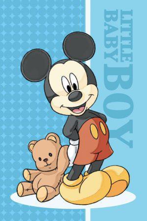 Viopros Πετσέτα Βελουτέ 40x60 Mickey 10 Πολύχρωμο