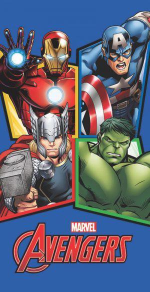 Viopros Πετσέτα Σώματος 70x140 Avengers 4 Πολύχρωμο