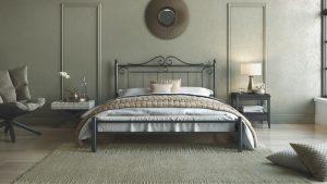 Chic Strom Μεταλλικό Κρεβάτι Athina Μονό 90x200