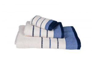Κόμβος Πετσετα Χειρος 30x50 Πεννιέ 480  Cream - Blue 2669