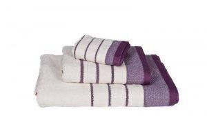 Κόμβος Πετσετα Χειρος 30x50 Πεννιέ 480 Cream - Lilac 2669