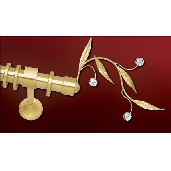 Κουρτινόβεργα Φ25 Ελιά Χρυσό Σατινέ Anartisi 61736
