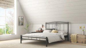 Chic Strom Μεταλλικό Κρεβάτι Eva Μονό 90x200