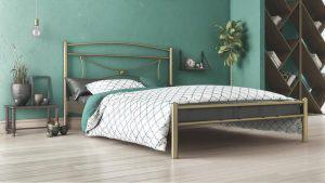 Chic Strom Μεταλλικό Κρεβάτι Fiona Ημίδιπλο 110x200