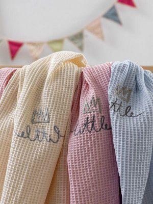 Palamaiki Κουβέρτα Πικέ Αγκαλιάς Bebe Blankets 80x110 LILAC HONEY