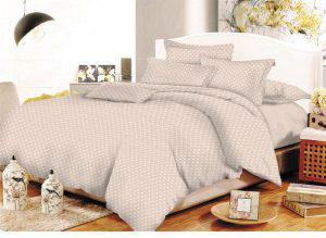 Ζεύγος μαξιλαροθήκες ΚΟΜΒΟΣ Cotton Line Printed Dots Beige 50x70