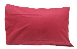 Ζεύγος μαξιλαροθήκες ΚΟΜΒΟΣ Κόκκινες μονόχρωμες 50x70