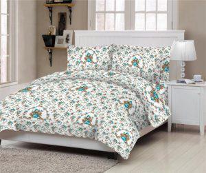 Πάπλωμα ΚΟΜΒΟΣ Cotton Line Printed ROSE PETROL Υ/διπλό 220x240