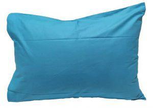 Ζεύγος μαξιλαροθήκες ΚΟΜΒΟΣ Τυρκουάζ μονόχρωμες 50x70