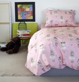 Melinen Παπλωματοθηκη Μονή 165x260 Kids Line Cute Pink