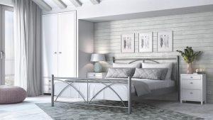 Chic Strom Μεταλλικό Κρεβάτι Πάολο Μονό 90x200
