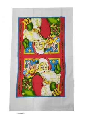 Ποτηρόπανο Βελουτέ 38Χ65 ΚΟΜΒΟΣ Santa Claus