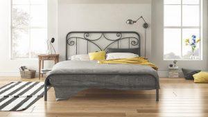 Chic Strom Μεταλλικό Κρεβάτι Roxane Μονό 90x200