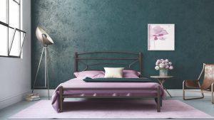 Chic Strom Μεταλλικό Κρεβάτι Sam Ημίδιπλο 110x200