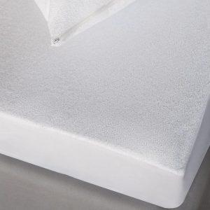 Melinen Επίστρωμα Μονό 100x200+30 Αδιαβροχη Πετσετε Λευκο