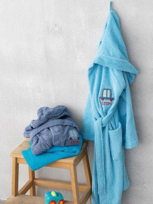 Palamaiki Μπουρνουζι 2-4 Kids Bath  Μπλε STOP