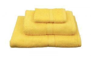 Viopros Πετσέτα Χεριών 30x30 Classic Κίτρινο