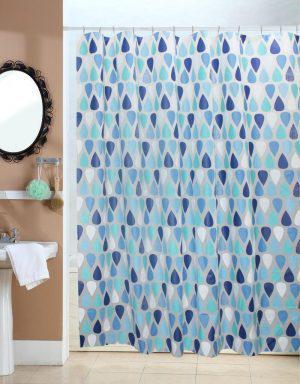 Viopros Κουρτίνα Μπάνιου 180x200 Ρέιν Μπλε