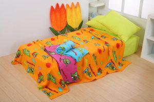 Viopros Κουβέρτα Fleece Κούνιας 115x155 Gummy Bear Πορτοκαλί