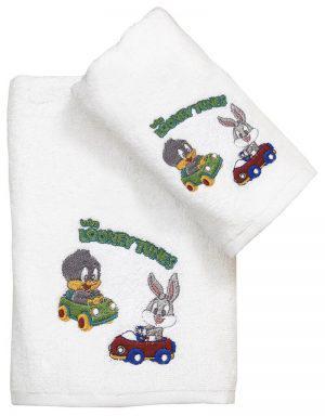 Viopros Πετσέτα Προσώπου 50x80 Baby Looney Tunes 20 Λευκό