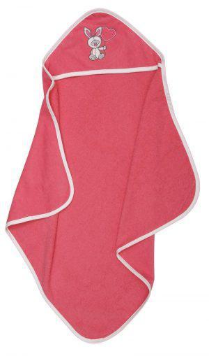 Viopros Βρεφικό Μπουρνούζι 72x75 Ράμπιτ Ροζ