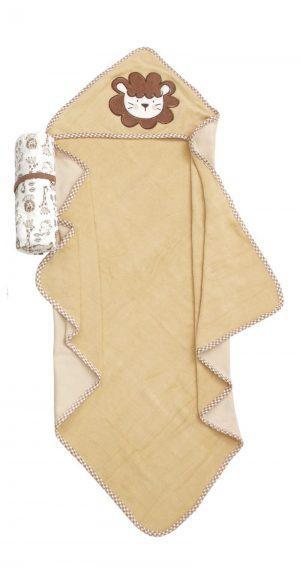Viopros Σετ 7 Τεμ Βρεφική μπέρτα και πετσετάκια 75x75, 22x22 102 Κίτρινο