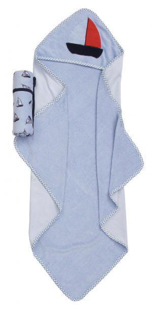 Viopros Σετ 7 Τεμ Βρεφική μπέρτα και πετσετάκια 75x75, 22x22 105 Μπλε